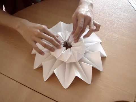 HOW TO MAKE 3D ORIGAMI FLOWER VASE V6 | DIY PAPER FLOWER VASE ... | 360x480