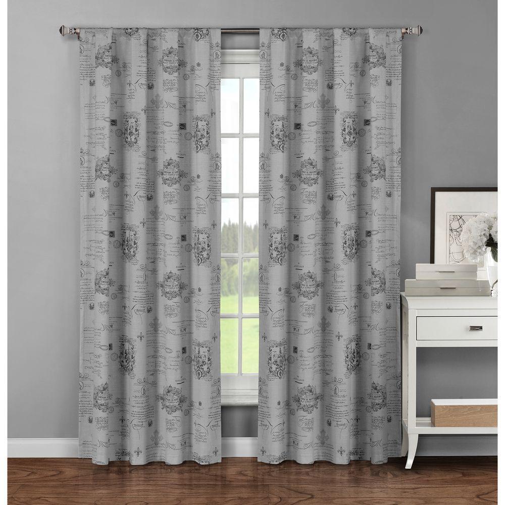 Window Elements Semi Opaque Fleur De Lis Printed Cotton Extra Wide