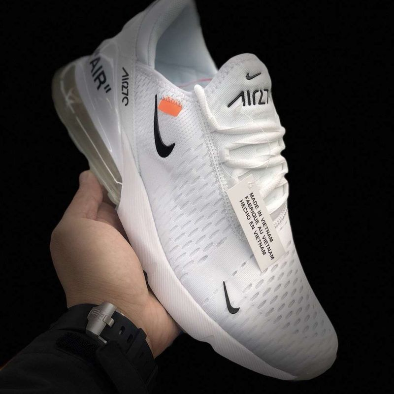 Is This A New Off White X Nike Air Max 270 Check Link In Bio For More Information By Ryivibes 99kicksde For Black Running Shoes Sneakers Nike Air Max