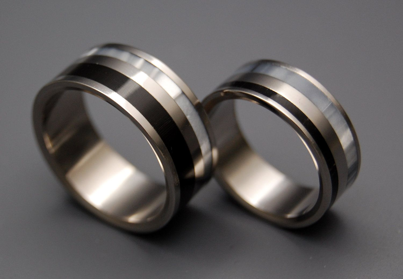 Black rings wedding rings titanium rings mens rings Etsy