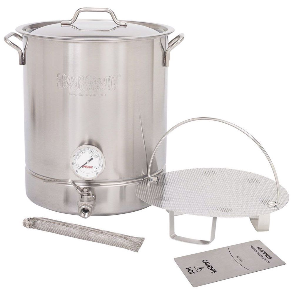 Bayou Classic 10 Gallon Stainless Steel Brew Kettle Set Home Beer Brewing Kit Bayou Classic Beer Brewing Supplies Home Brewing