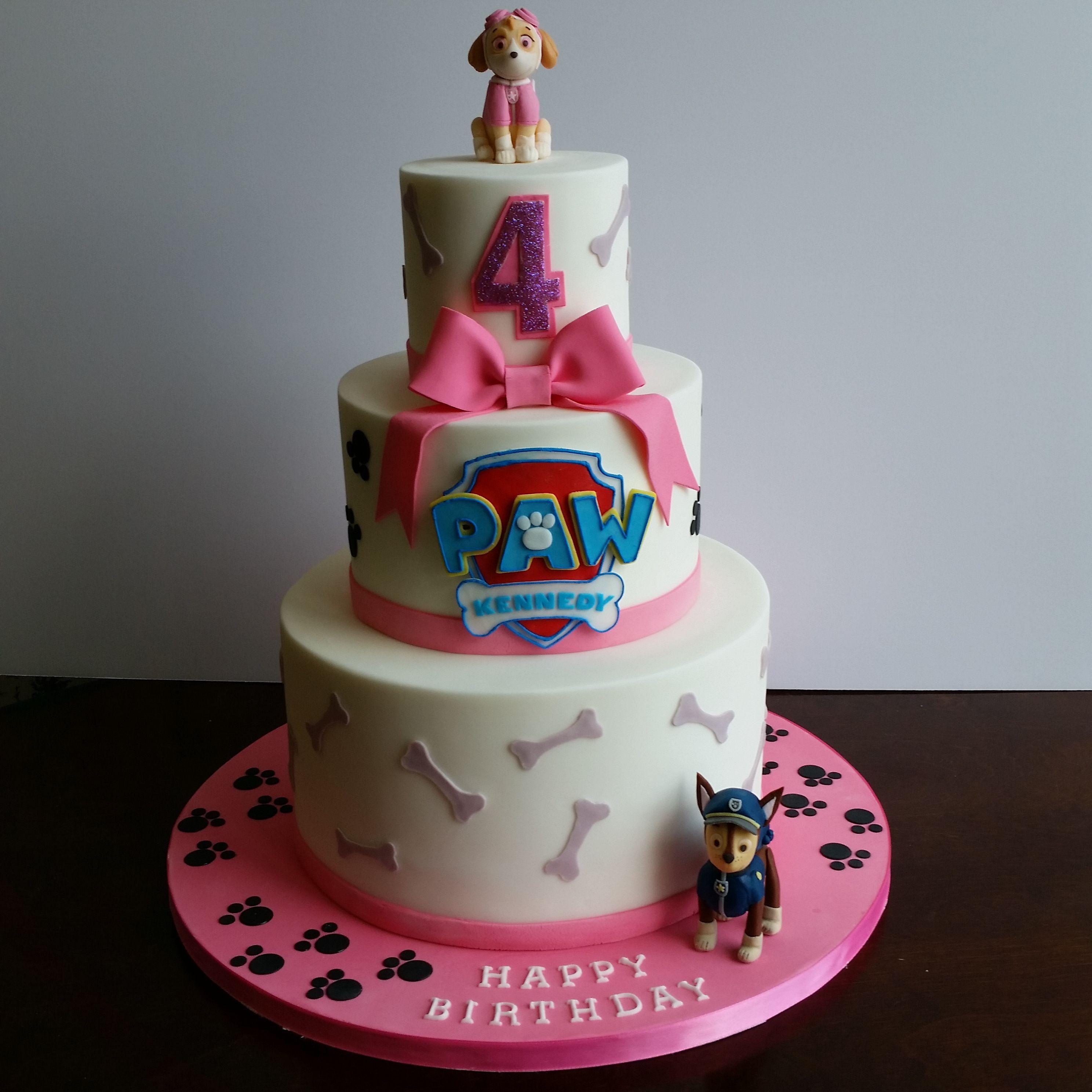 Paw Patrol birthday cake Amy Beck Cake Design Chicago