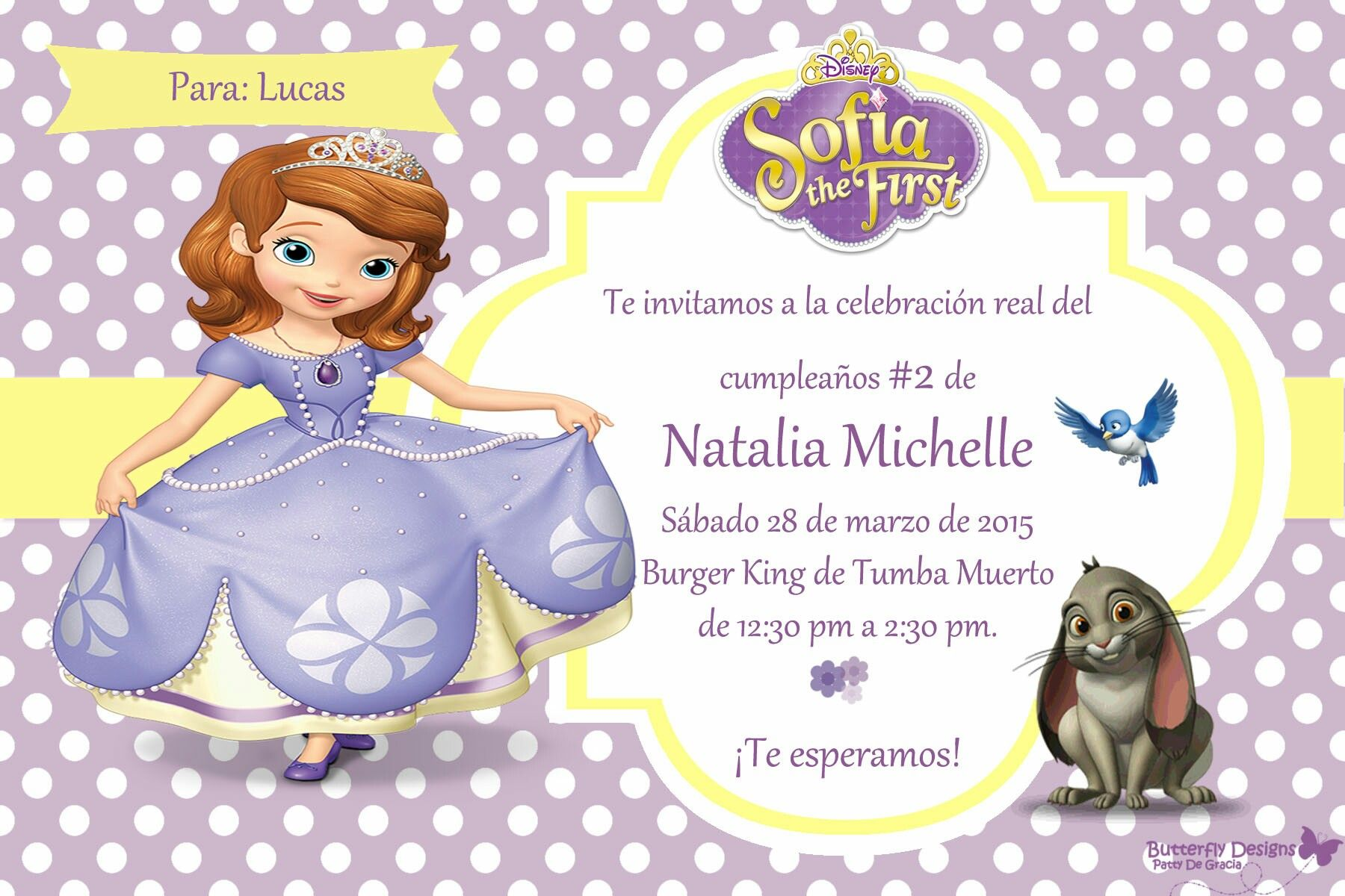 Lets Have Some fun Sofia the first Birthday invitation by