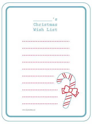 Printable Childu0027s Christmas Wish List For Project Life  Free Christmas List Template