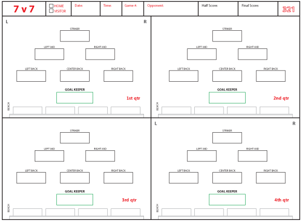 Soccer Formations And Systems As Lineup Sheet Templates Brant Wojack Soccer Soccer Coaching Soccer Players