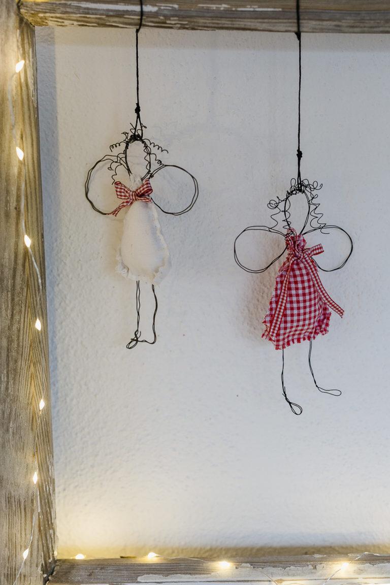 Engel DIY für Weihnachten oder neue Drahtengel • Pomponetti #bastelideenweihnachten