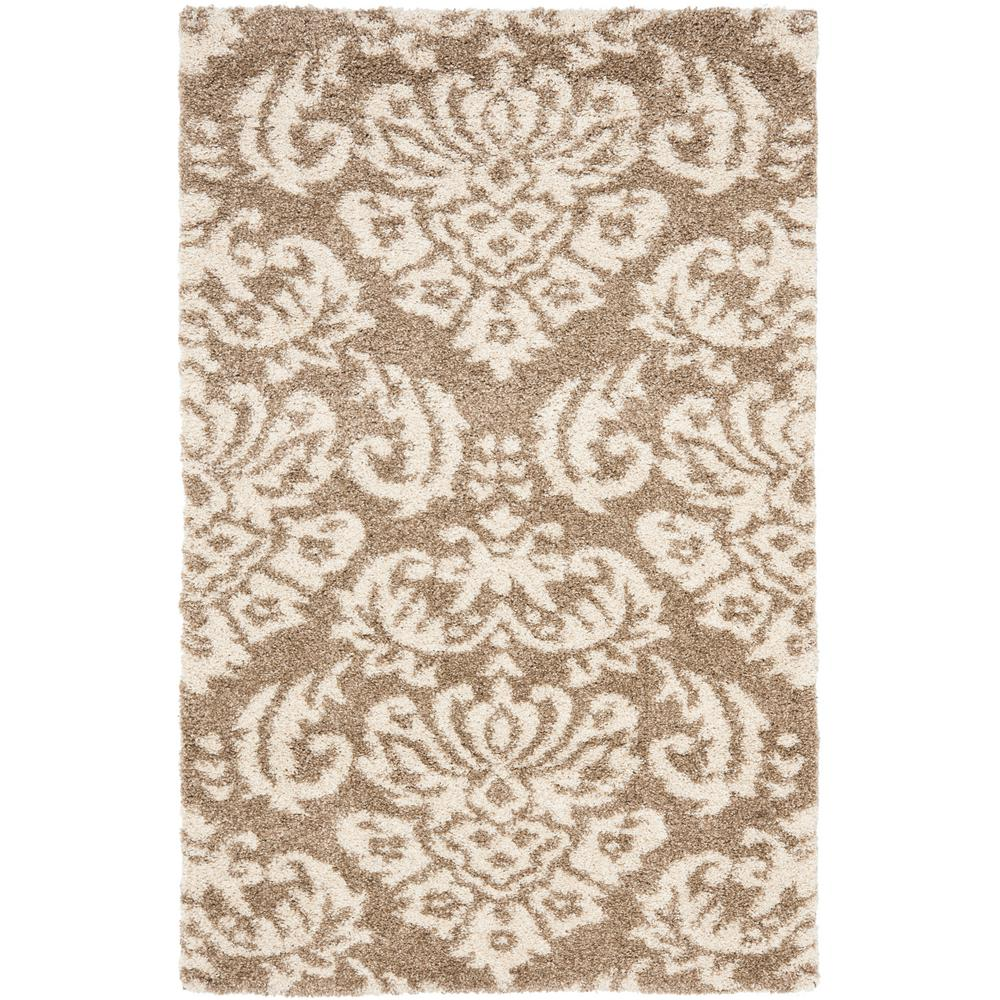 Safavieh Florida Shag Beige Cream 8 Ft X 10 Ft Area Rug