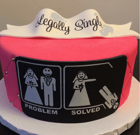 20 Hilariously Sad 'Divorce Cakes' To Celebrate The End Of A Bad Marriage #divorce