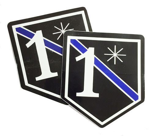 Various Sizes Thin Red//Blue Line 1 Ass To Risk 1* Window Decal