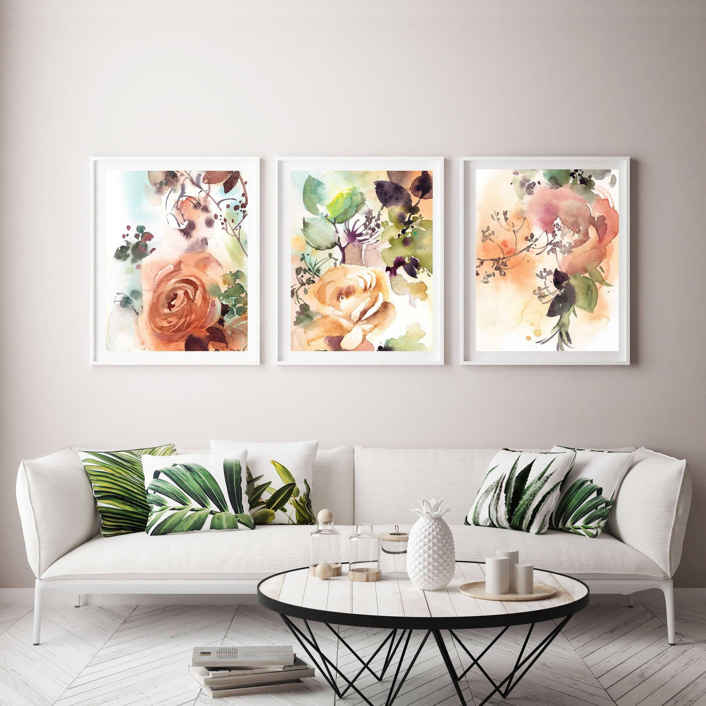 Abstract floral botanical Wall Gallery Set of 13 Fine Art Prints
