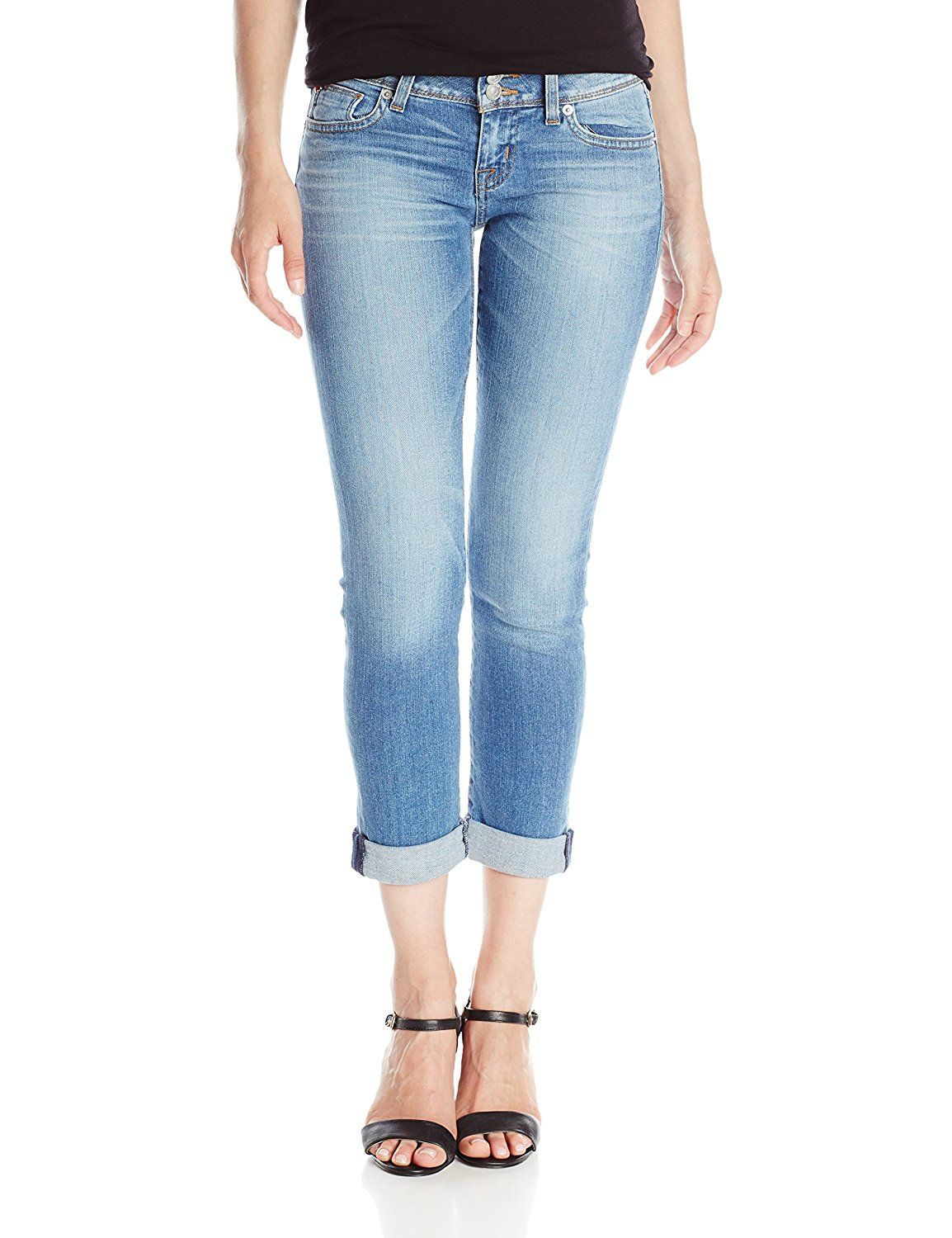 Hudson Women's Ginny Straight Crop Jean with Cuff In Hot Springs -- You can find more details by visiting the image link.