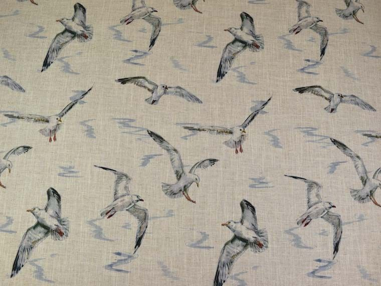 Clarke Seagulls Linen Fabric F0860 01 Curtains And Upholstery The Mill