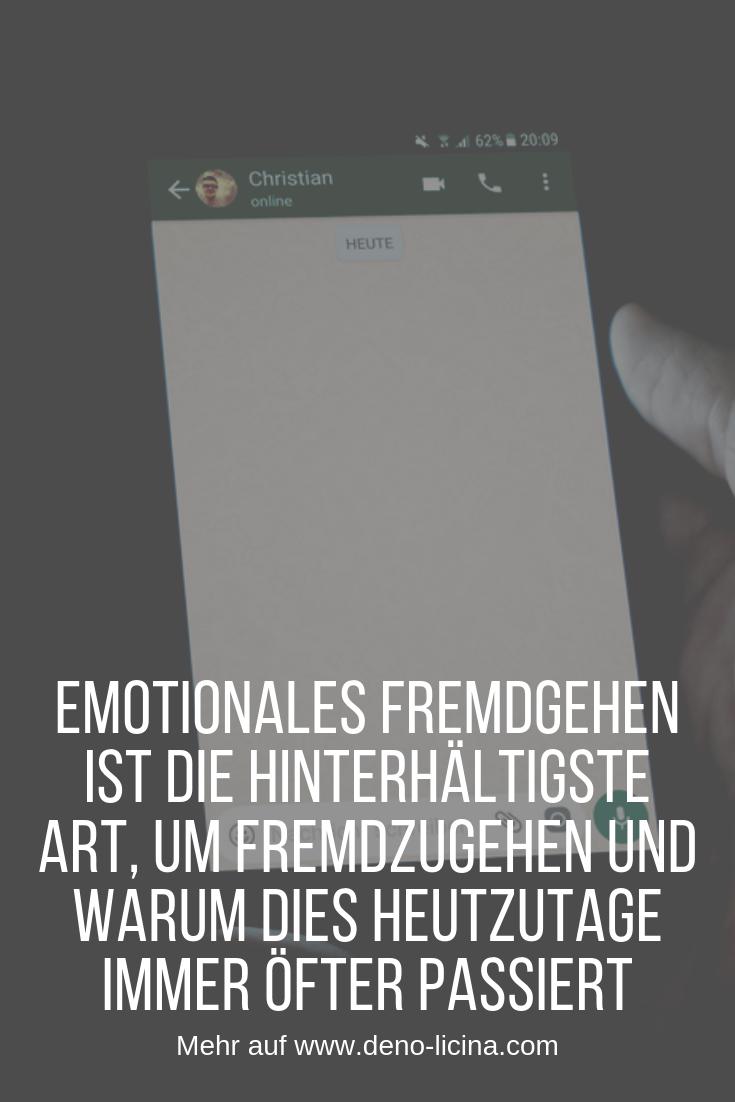 Emotionales Fremdgehen