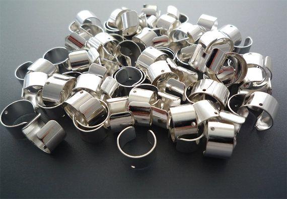 Silver Ear Cuffs - 20 pcs