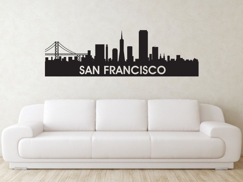 san francisco skyline wall decal from art of vinyl 48 With vinyl lettering san francisco