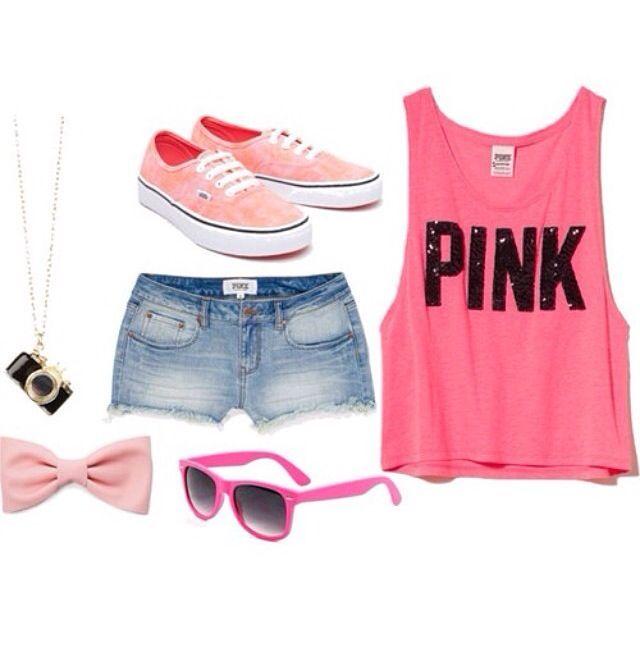 Victoria Secret Pink Outfits | Love Pink Victoriau0026#39;s Secret teenage girl summer outfit | v i c t ...