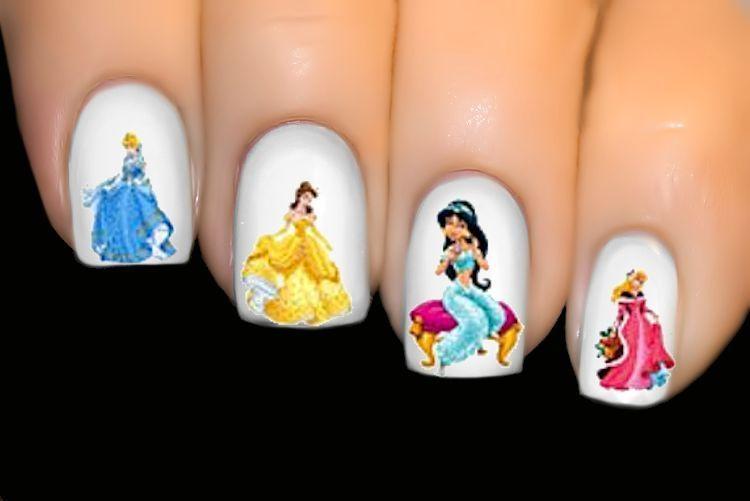 DlSNEY Nail Water Transfer Decal Sticker ♥ Princess Cinderella Jasmine ♥ #1696