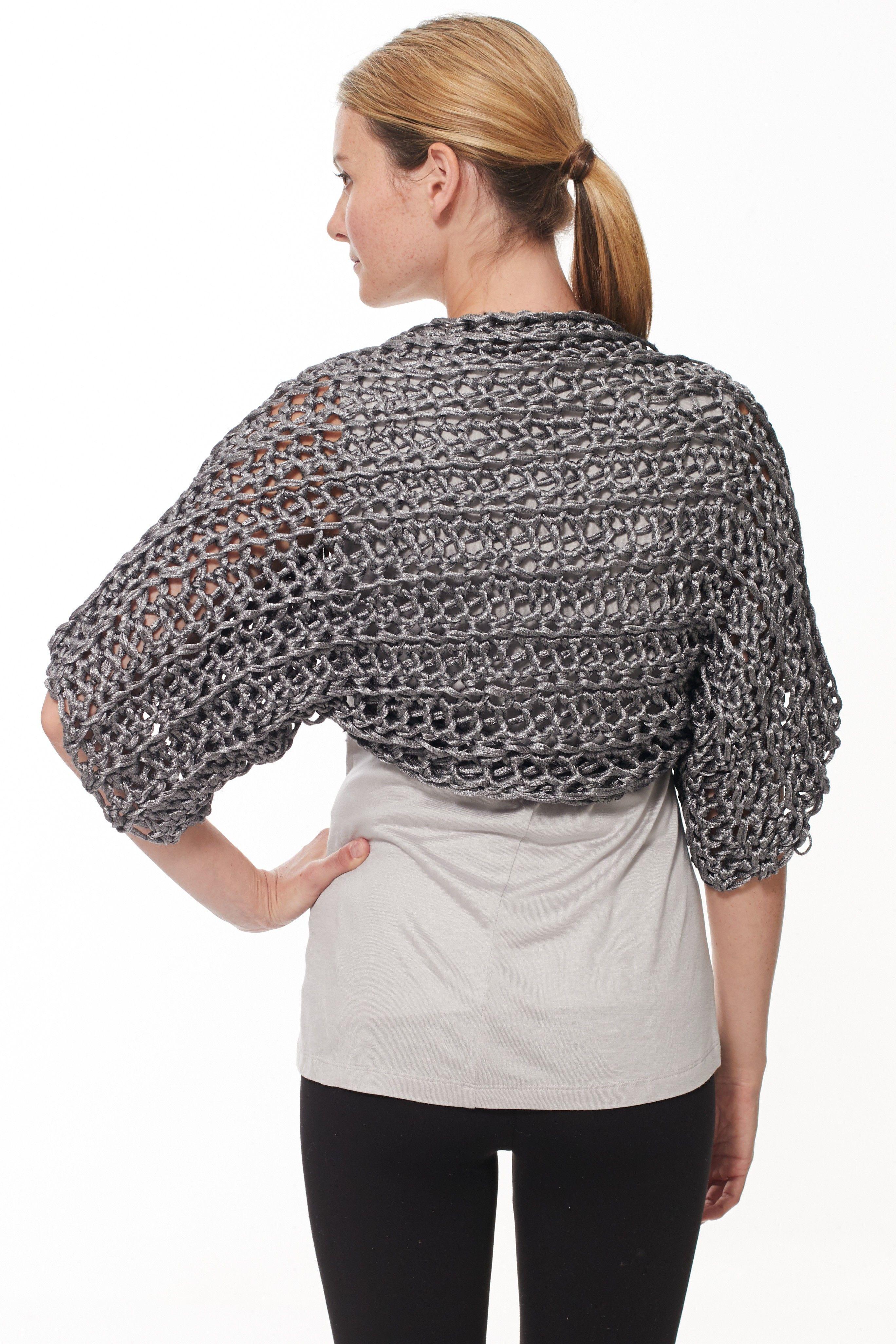 Finger Crochet Shrug: free #crochet #pattern | Crazy Cool Crochet ...