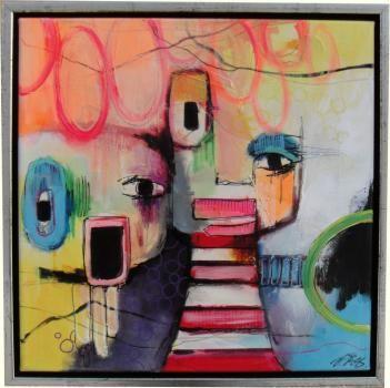 Himmerlands Kunsthandel Billedinformation For Billede 173 Abstrakt Malerier Akryl Maleri