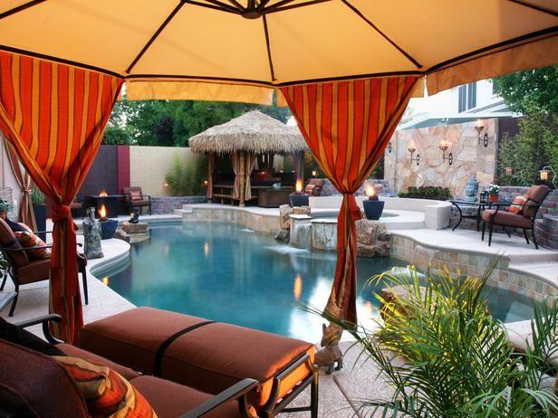 Tropical Backyard Escape Http Www Hgtv Com Designers Portfolio