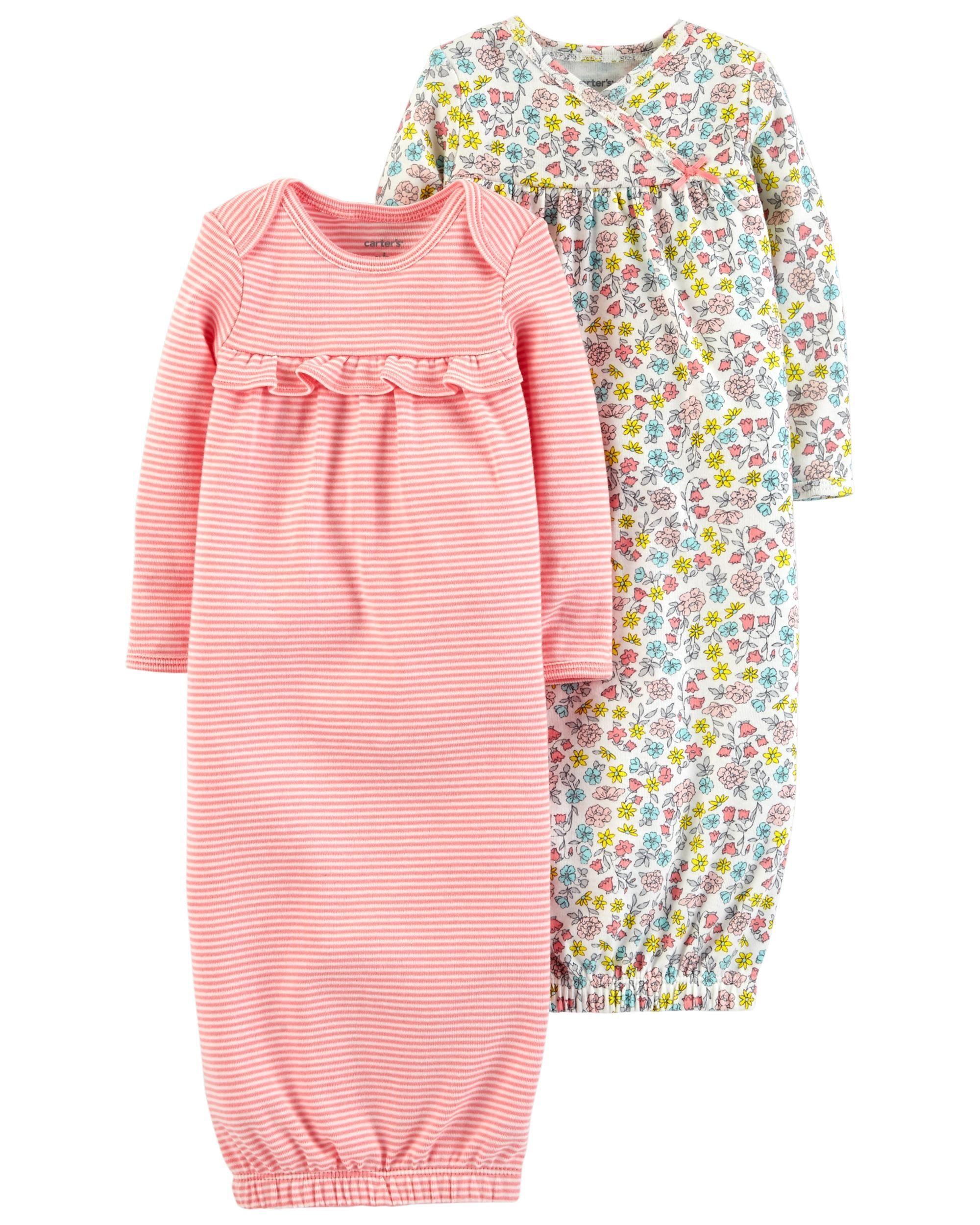 69c530707 2-Pack Babysoft Sleeper Gowns | Matthyew&Rileigh | Carters baby girl ...