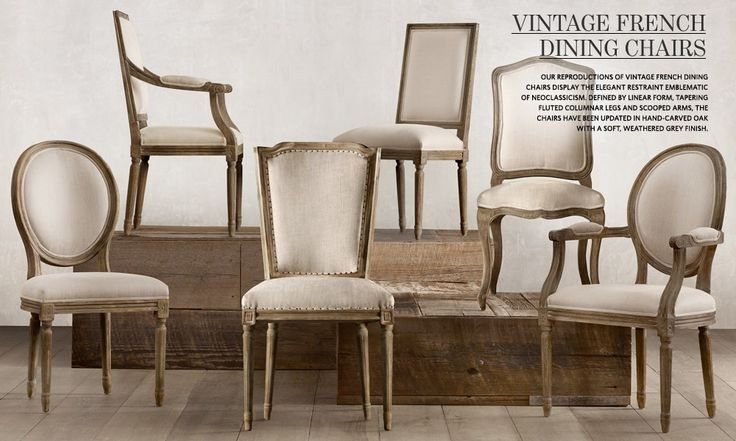 vintage dining room chairs little tikes large table and french restoration hardware