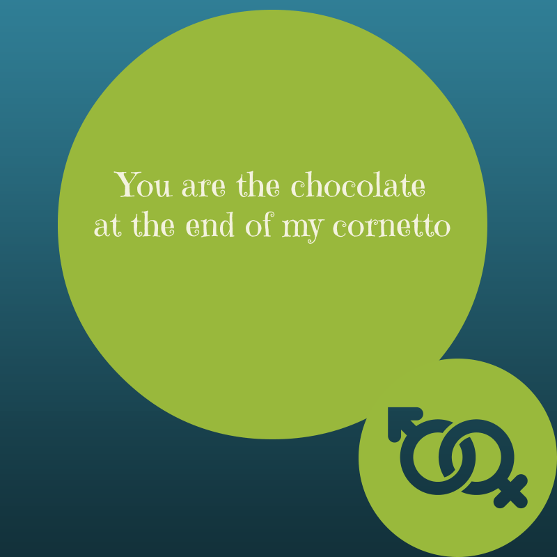 You are the chocolate at the end of my cornetto #love #valentine ...