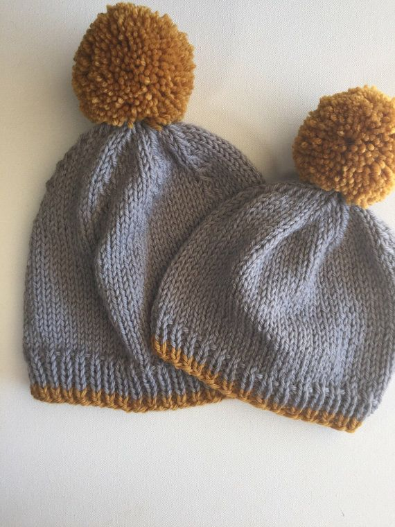 31a50fe1ae5 Mommy Daughter Hats Mother Son Hats Matching by FlatlanderKnits ...