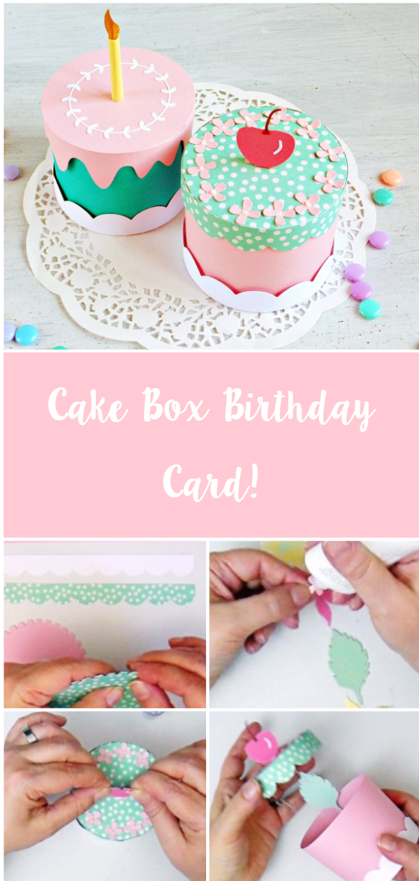 Cake Box: Paper Garland in a Box Birthday Card - VIDEO | Sizzix Blog