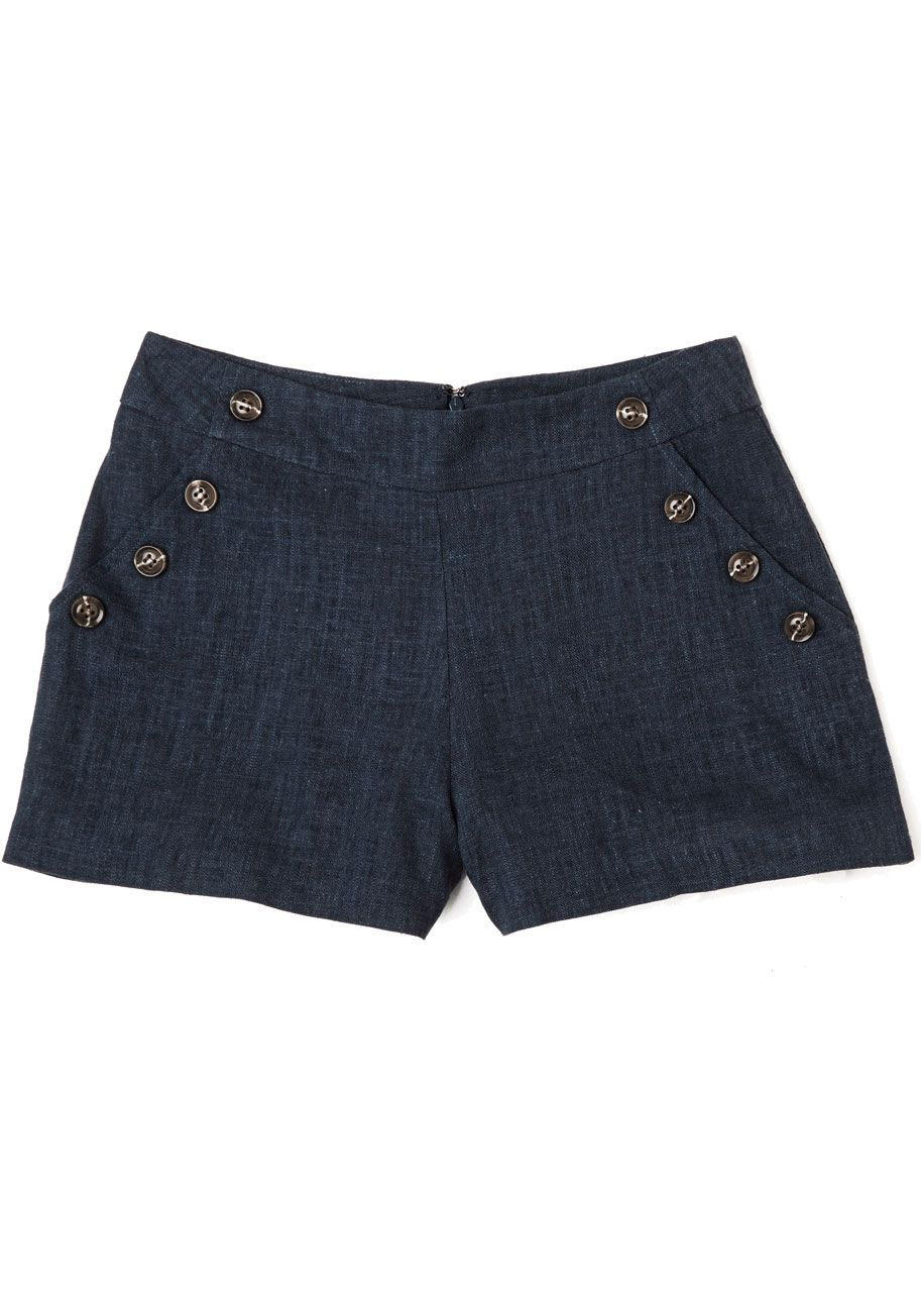 Nautical Style - Pass the Navy Down Shorts