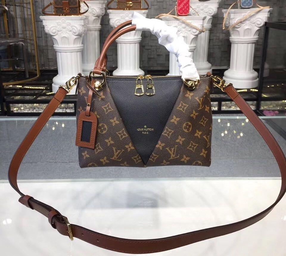 e06f23fe0c Louis Vuitton Monogram Canvas V Tote BB Noir M43976 | Women's ...