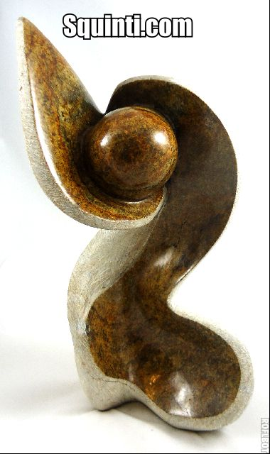 Abstract creation stone sculpture hand carved from fruit serpentine stone available at http://squinti.com/?wpsc-product=abstract-sculpture