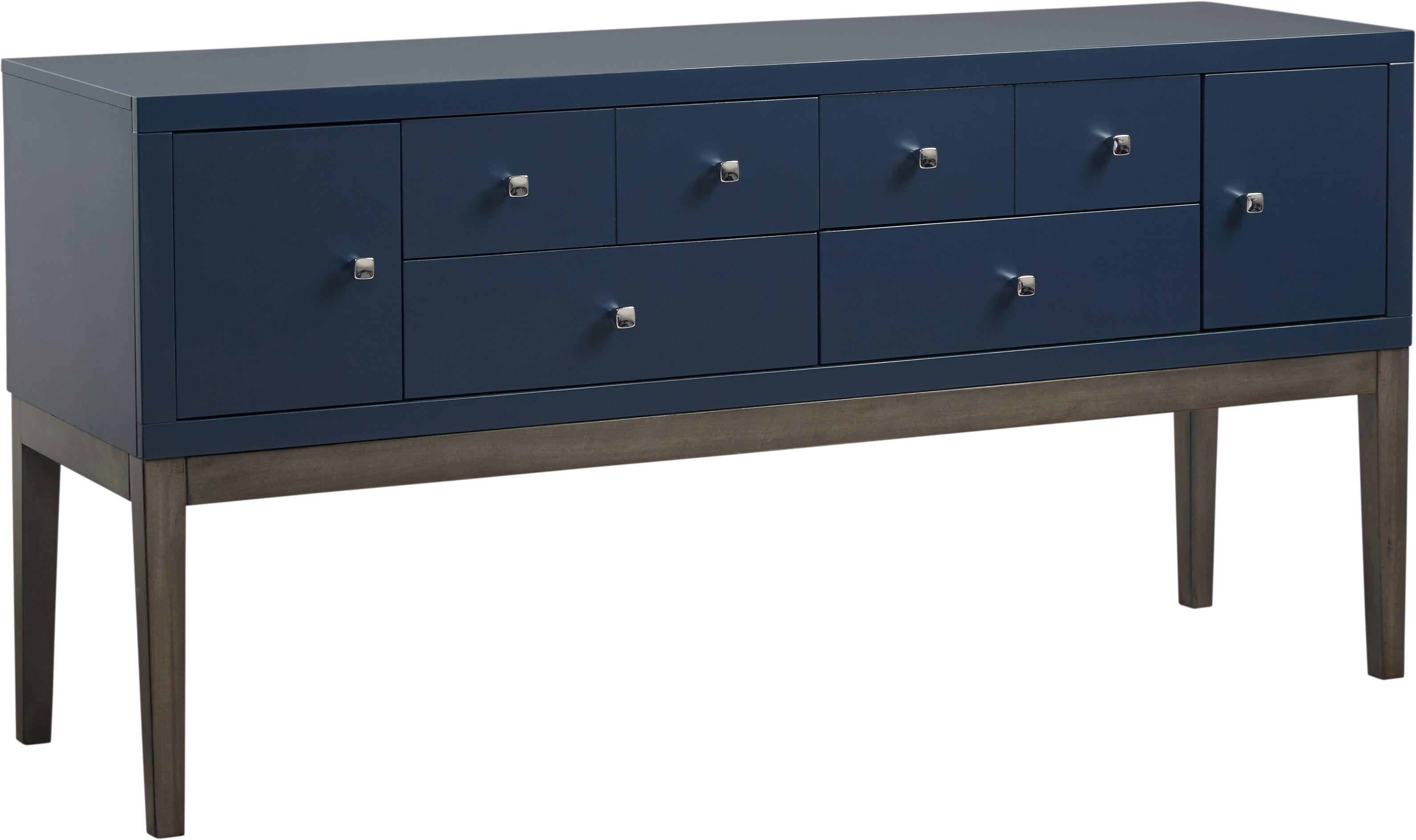 Skyler Navy Credenza Accent Cabinet Stylish Storage Cabinet