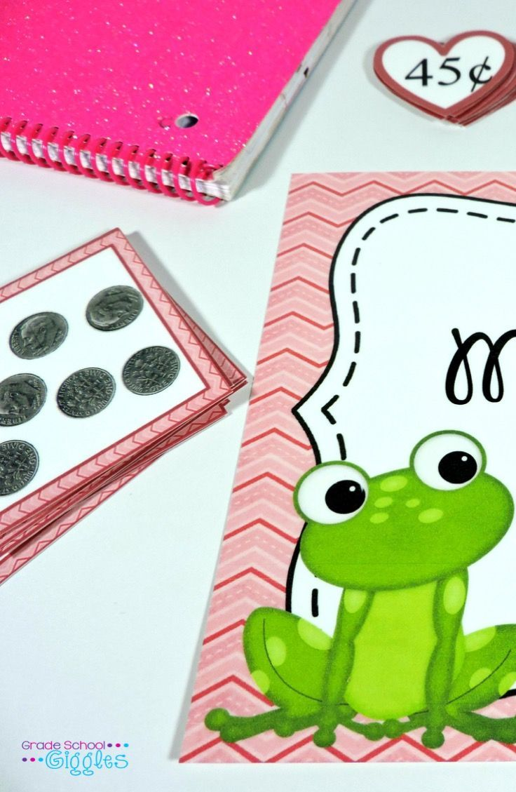 Do you teach coin counting and like freebies? Yes. Then, I've got you covered with this frog themed math center. Your kids will practice counting coins up to $1 by matching the coin cards with the correct coin values.