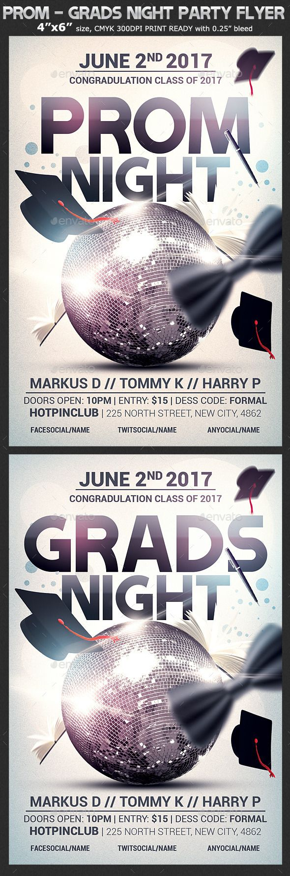 Prom-Graduation Night Party Flyer Template | Party flyer, Night ...