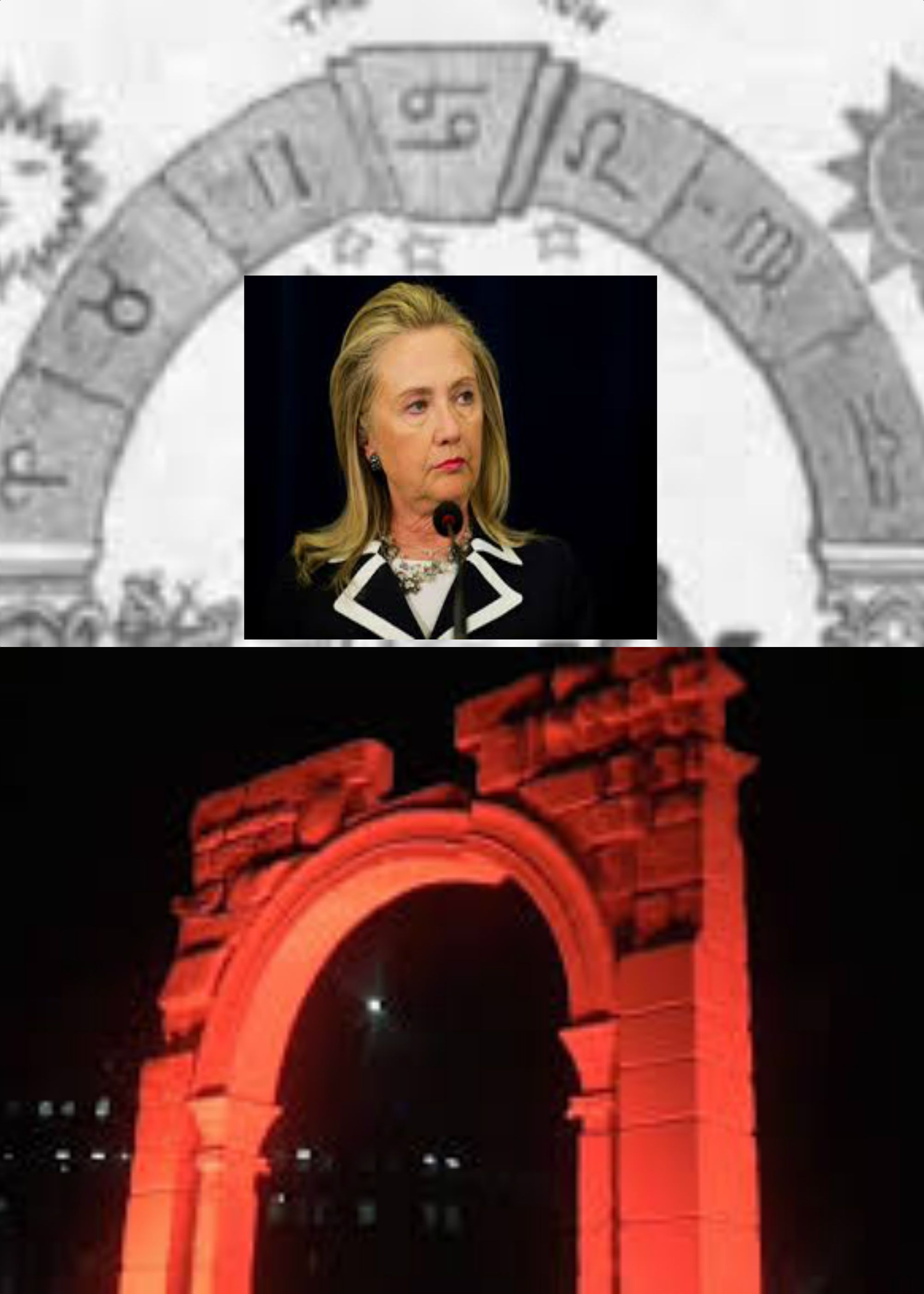 From the Arch of Baal going up in NY where Hellery was Senator to her 69th Birthday is 37 days. 37=EL=god - their god. Notice the capstone is missing on the arch. So is Hellery the capstone?