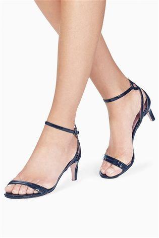 Buy Navy Kitten Heel Sandals From The Next Uk Online Shop Navy Kitten Heels Kitten Heel Sandals Sandals Heels