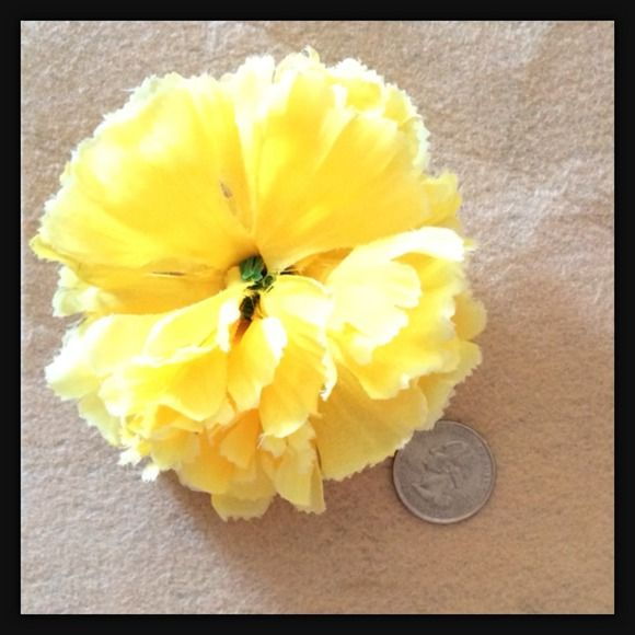 Nfs my posh picks pinterest yellow carnations photo yellow carnation flower hair clip condition brand new handmade size see photo color yellow details cheylife accessories hair accessories mightylinksfo