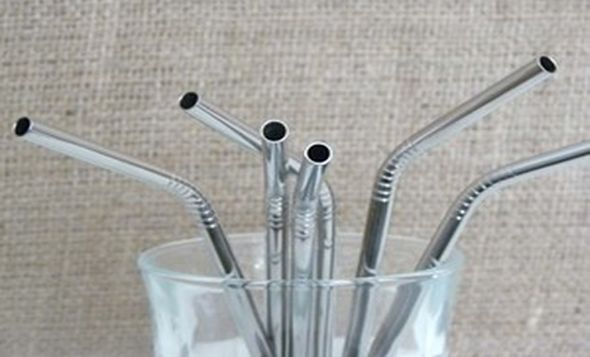 Stainless steal straws... Kind of neat!
