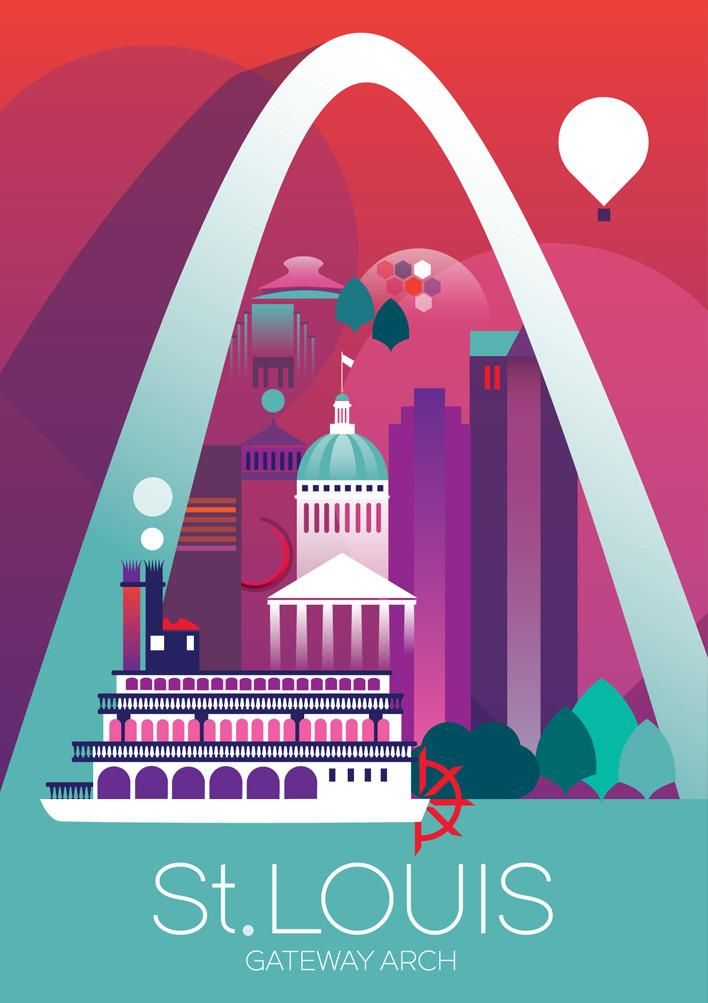 st louis print my travel channel pinterest travel posters
