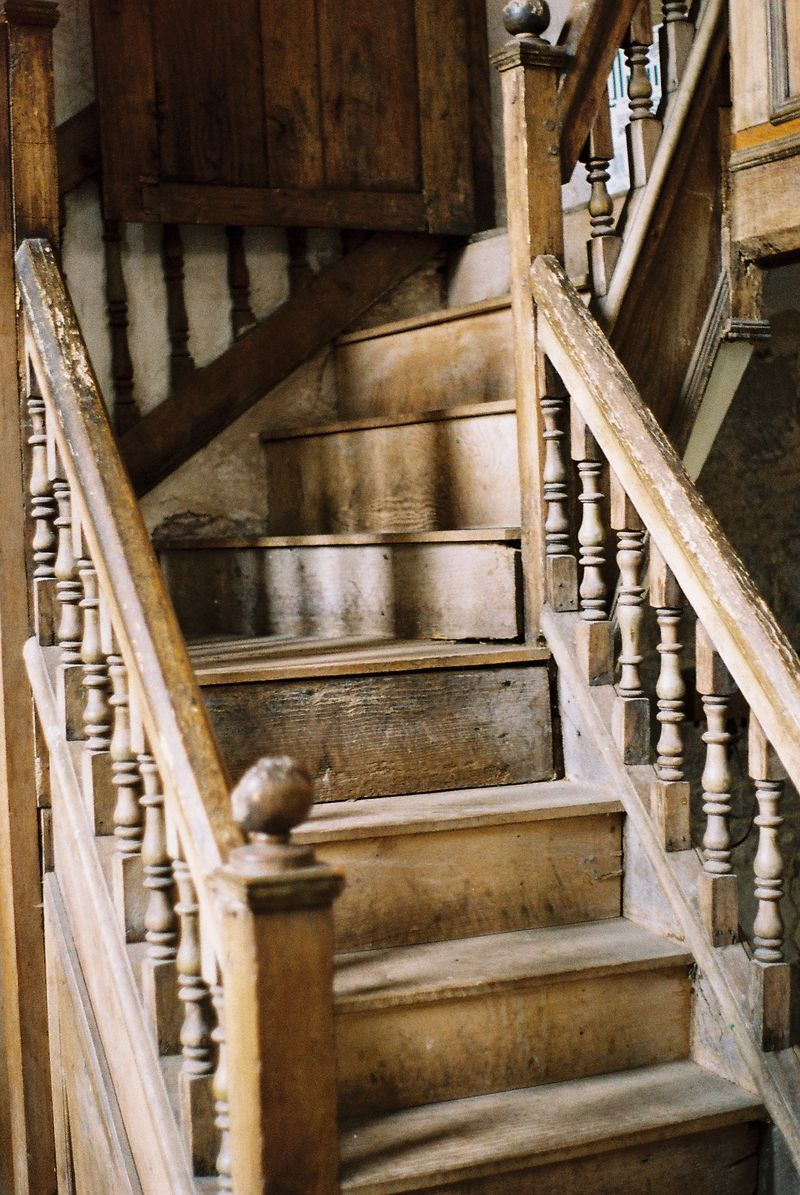 Old Stairs Were Invariably Narrow. No King Size Beds Upstairs In This House.