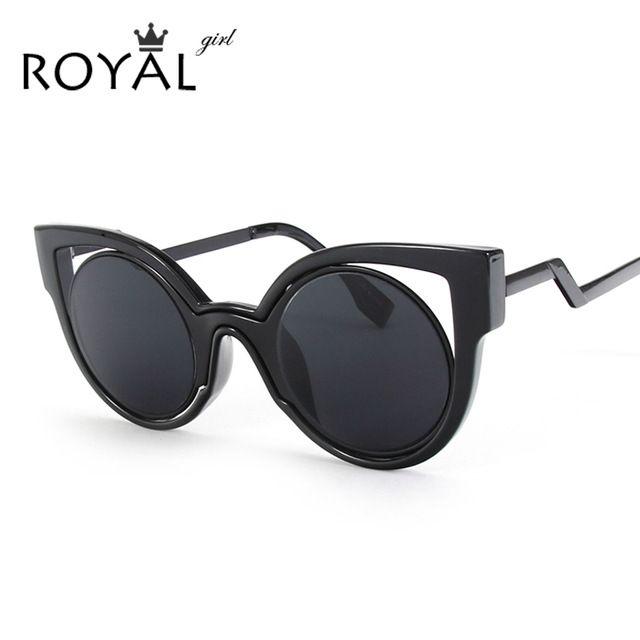 Royal girl new luxo marca designer cat eye estilo clássico óculos de sol  das mulheres do 83d1626dd7