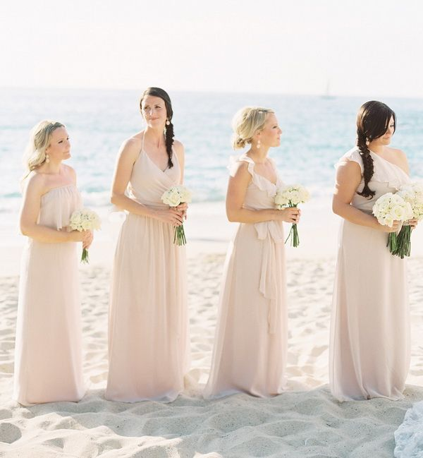 How to style a beachside wedding trends and inspiration mismatched bridesmaid dresses for beach wedding junglespirit Images