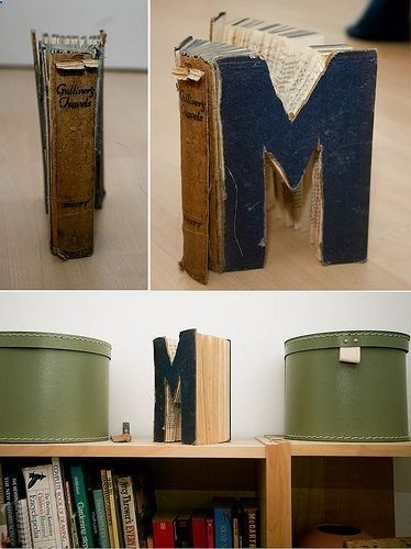 Must make letter made from a book projects crafts diy do it letter made from a book projects crafts diy do solutioingenieria Gallery