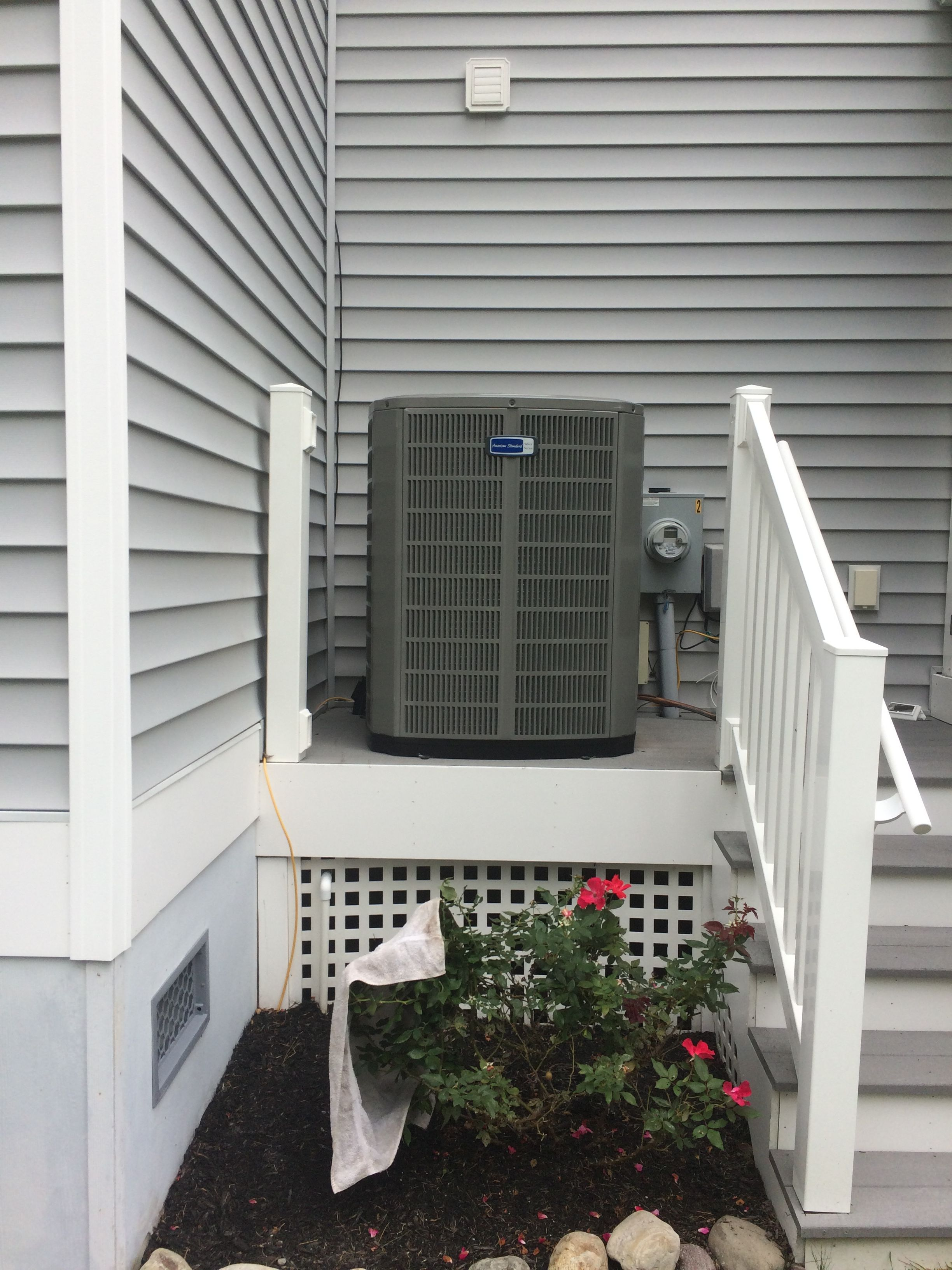American standard heat pump Air heating, Outdoor