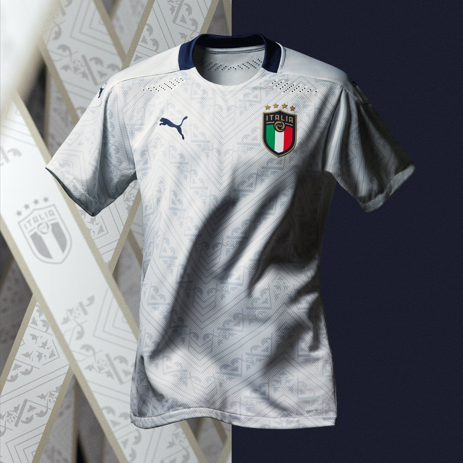 2020 Euro Italy Away White Soccer Jersey Shirt Soccer Shirts Soccer Jersey Football Shirts