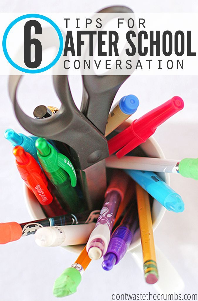 Talking to you kids abut school can be tough, so these tips for after school conversation are super helpful - especially since this is my first year with my kids in school! These will be a huge help when my kids don't want to open up, but I need to know how their day went! :: DontWastetheCrumbs.com