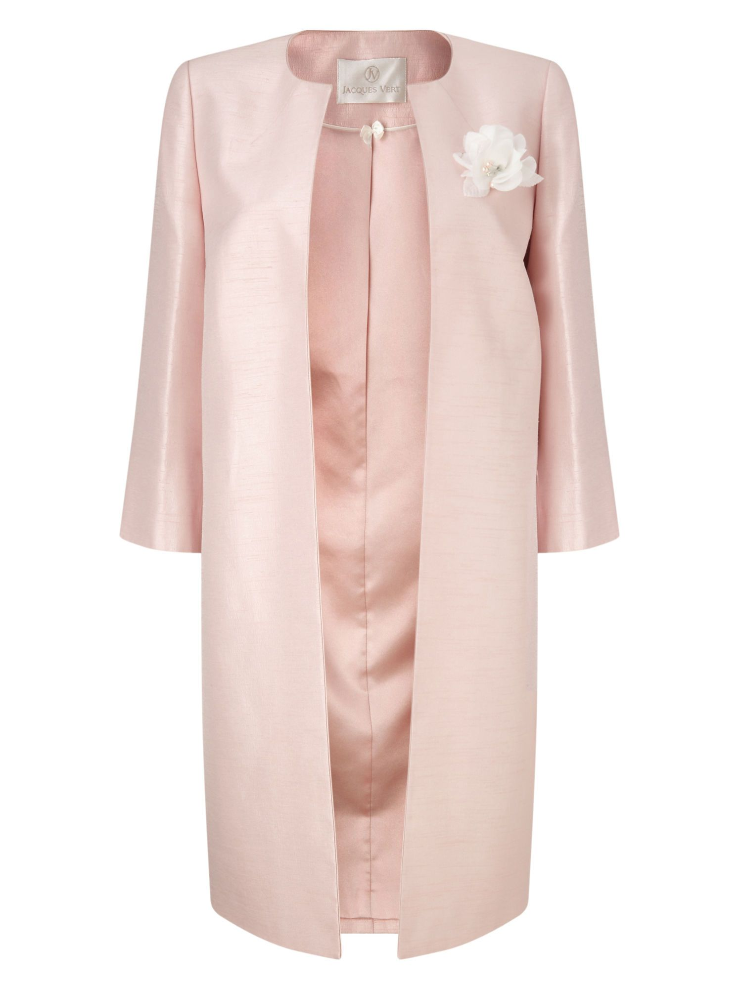 Jacques Vert pink occasion coat with corsage. New frock coats and ...