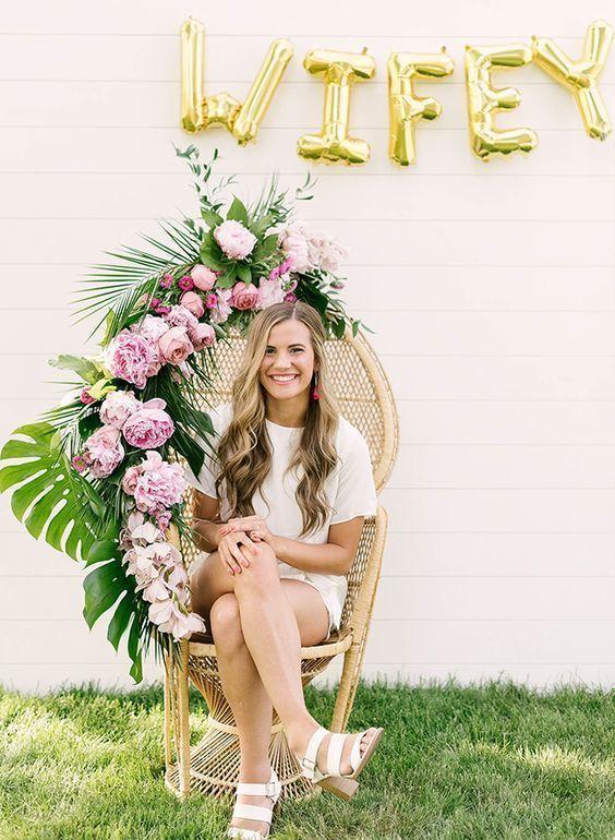 Blush Gold Floral Brunch And Bubbly Bridal Shower Invitation | Zazzle.com