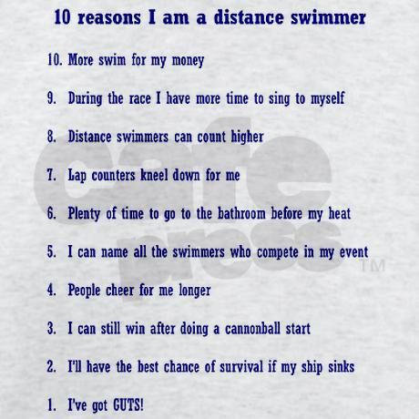 Number 10 only counts out of swim season but other than that I am a proud Distancer <3